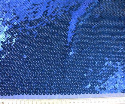 Hochwertige Paillettenstickerei auf Stoff - Paillettenstoff - blau - 76-017-038