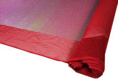 Transparente Paillette auf Stoff gestickt - rot - 76-019-024