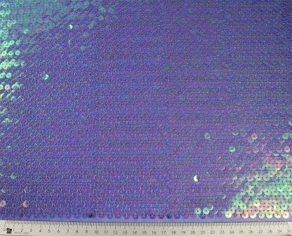 Transparente Paillette auf Stoff gestickt - blau - 76-019-037
