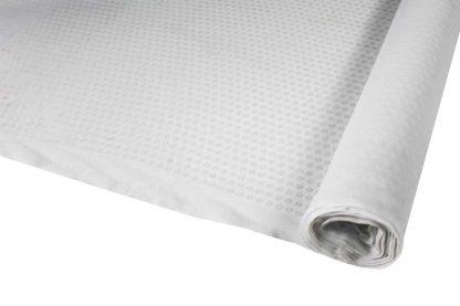 Paillettenstoff nebeneinander gestickt - transparent weiß - 76-020-001