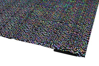 Paillettenstoff mit geklebter Paillette schwarz silber - 76-022-241