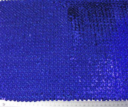 Paillettenstoff geschuppt und dicht bestickt blau - 76-032-038