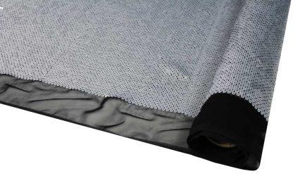 Haute Couture Pailletten Stoff matt silber - 76-036-241