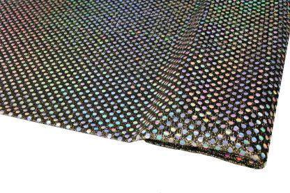 Paillettenauf Glanzstoff geklebt - gold auf schwarz - 76-045-247