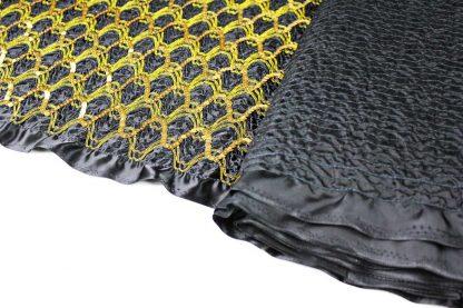 Aussergewöhnlicher Paillettenstoff - schwarz gold - 76-047-247
