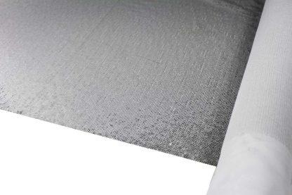 Pailletten auf Seide Stoff matt silber - 76-059-041