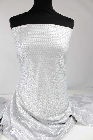Paillettenstoff matt silber - 76-061-041