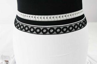 Extravagante Leavers Lace Spitzenborte - schwarz - 80-009-046