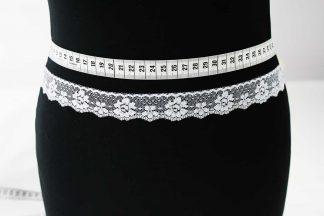 Zarte Valiencienne Spitzenborte - Spitzenband - Klöppelspitze - weiß - 80-014-001