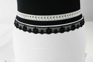 Zarte Valiencienne Spitzenborte - Spitzenband - Klöppelspitze - schwarz - 80-014-046