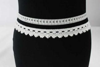 Klöppelspitze Baumwolle Borte - weiß - 80-019-001