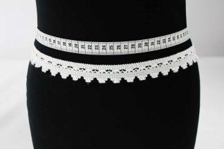 Klöppelborte Baumwolle - weiß - 80-020-001