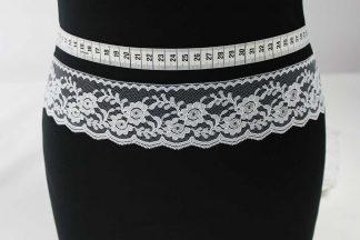 Spitzen Band - weiß silber - 80-048-341