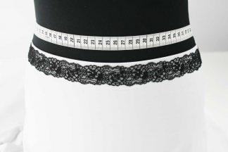 Spitzenborte - schwarz - 80-080-046