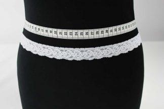 Spitzenborte elastisch, Stretch Spitze - weiß - 80-101-001