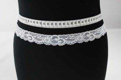 Spitzenborte elastisch, Stretch Spitze - weiß - 80-102-001