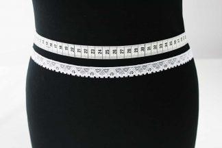 Spitzenborte elastisch, Stretch Spitze - weiß - 80-104-001