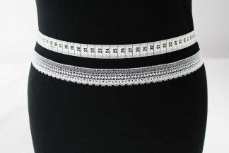Zarte Valiencienne Spitzenborte - Spitzenband - Klöppelspitze - weiß - 81-001-001