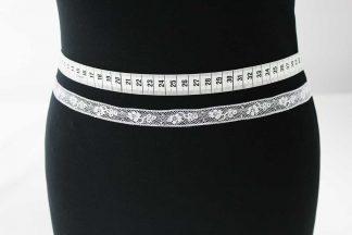 Zarte Valiencienne Spitzenborte - Spitzenband - Klöppelspitze - weiß - 81-002-001
