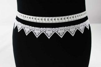 Hochwertige Spitzenborte gezackt - weiß - 81-0024-001