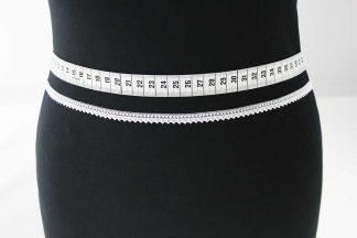 Zarte Valiencienne Spitzenborte - Spitzenband - Klöppelspitze - weiß - 81-008-001