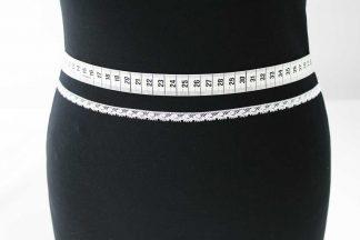 Zarte Valiencienne Spitzenborte - Spitzenband - Klöppelspitze - weiß - 81-009-001