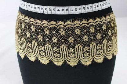 Spitzenband breit - gold braun - 81-048-432