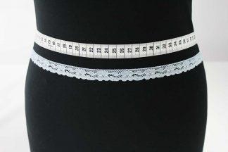 Spitzenborte, Spitzenband - hellblau - 81-062-036