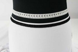 Hochwertige Spitzenborte elastisch, Stretch Spitze - schwarz - 80-127-046