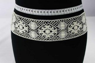 Besonders hochwertiges Spitzenband- Einsatzband - creme - 81-137-003