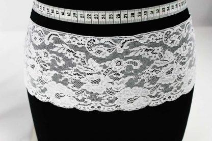 Exklusives Spitzenband mit Bogenkante (historische Spitze) - weiß - 81-152-001