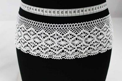 Hochwertiges Klöppelband - Häkelband breit - weiß - 84-005-001