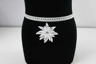 Spitzenapplikation Blume - weiß - 91-030-001