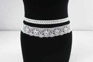 Haute Couture Spitzenborte - weiß - 91-041-001