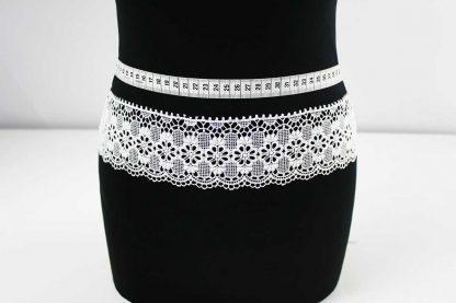 Brautkleid Spitzenborte - weiß - 91-043-001