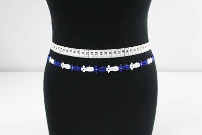 Spitzenkleid Borte - weiß blau - 91-054-337