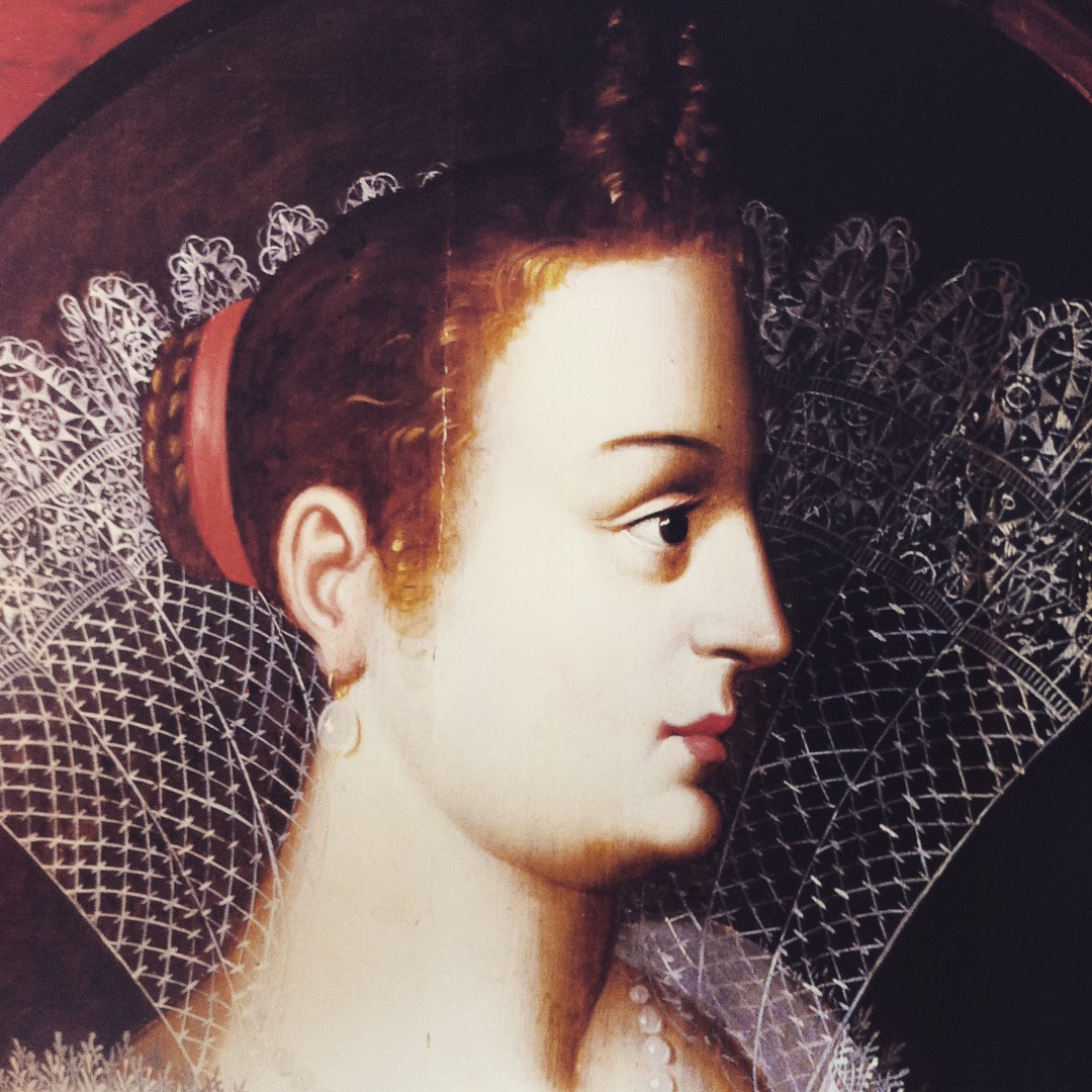 Historischer Spitzenstoff - Portrait of Veneta